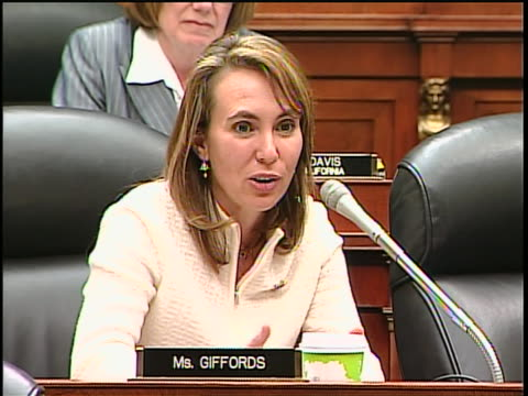zoom-out tracking-left mcu democratic representative of arizona gabrielle giffords questions defense secretary robert gates at the house armed... - united states department of defense stock videos & royalty-free footage