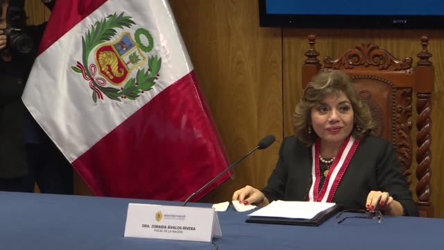 zoraida avalos who took over as peru's interim attorney general after her predecessor resigned amid allegations he sought to derail a massive... - generalstaatsanwalt stock-videos und b-roll-filmmaterial
