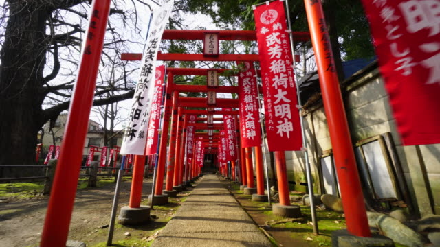 zoshigaya kishimojindo temple is shintoshrine which enshrines the goddess of safe birth and child rearing in toshimaku tokyo japan - shinto shrine stock videos & royalty-free footage