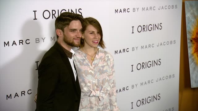 """zosia mamet and evan jonigkeit at fox searchlight pictures """"i origins"""" new york premiere presented by marc by marc jacobs at landmark sunshine cinema... - landmark sunshine theater stock videos & royalty-free footage"""