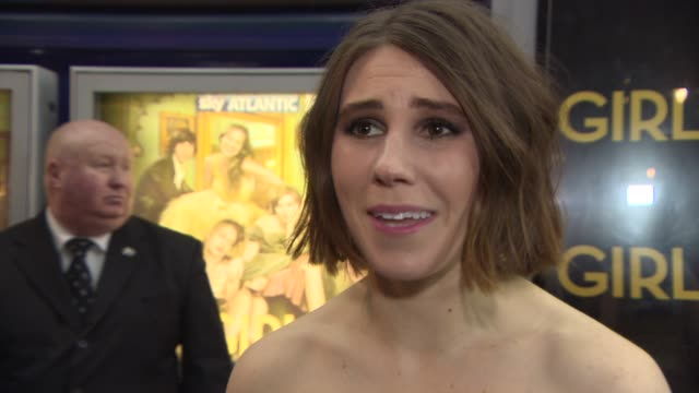 zosia mamet on the appeal of the show, working with lena dunham and richard e grant at girls' uk premiere at cineworld haymarket on january 15, 2014... - richard e. grant stock videos & royalty-free footage