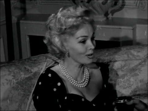 london dorchester hotel int zsa zsa gabor interview sot / on how to pronounce her name / not reluctant to discuss her age it's an anglosaxon sickness... - new age stock videos & royalty-free footage