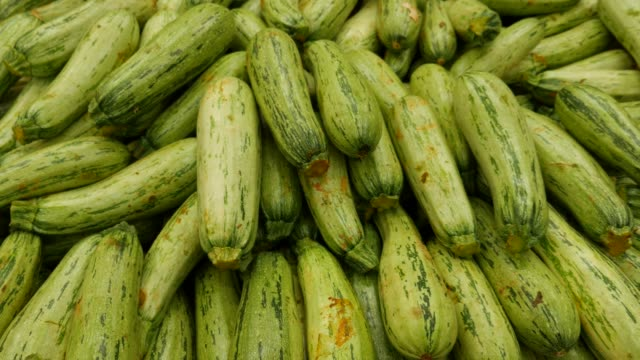 zucchini at farmer's market - courgette stock videos and b-roll footage