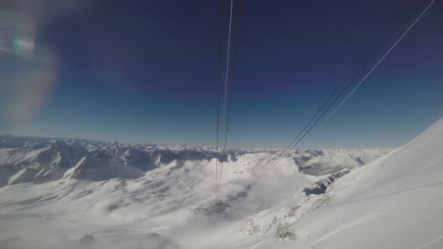 vídeos de stock, filmes e b-roll de zugspitze ski2 - montanha zugspitze