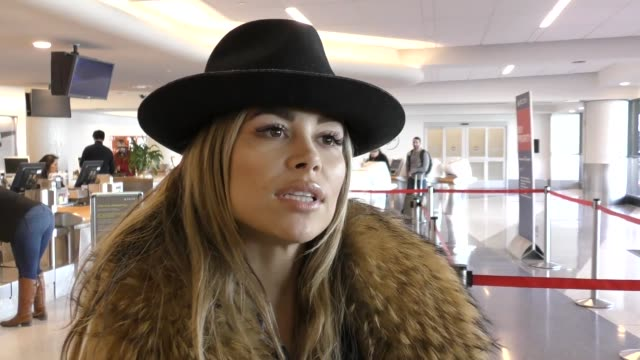 INTERVIEW Zulay Henao talks about her service in the US Army before departing at LAX Airport in Los Angeles in Celebrity Sightings in Los Angeles