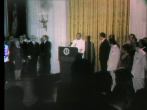 zulfikar ali bhutto the prime minister of pakistan gives a brief speech before he meets with us president richard nixon about an upcoming prisoner... - united states and (politics or government) stock videos & royalty-free footage