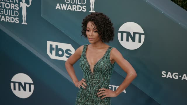 zuri hall at the 26th annual screen actors guild awards arrivals at the shrine auditorium on january 19 2020 in los angeles california - shrine auditorium stock videos & royalty-free footage