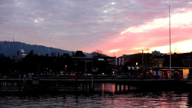 Zurich - Bridge at sunset