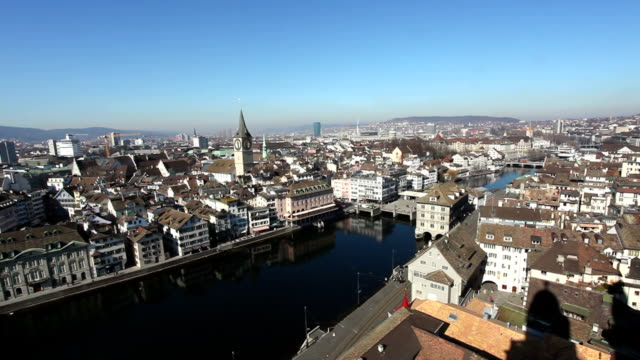 Zürich Stadtansicht-Zeitraffer