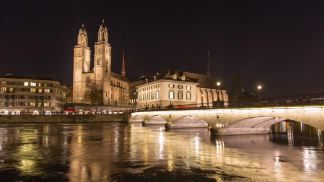 Zurich Grossmuenster Church Hyperlapse