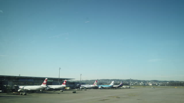 zurich kloten flughafen airport switzerland - europe stock videos & royalty-free footage