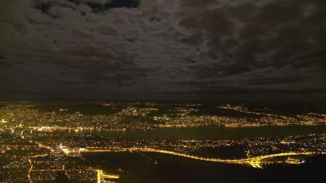 Zurich lake at night