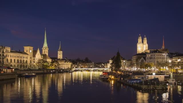 Zurich Quay Bridge Hyperlapse 4k