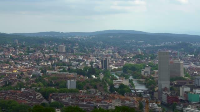 Zurich Skyline, panning