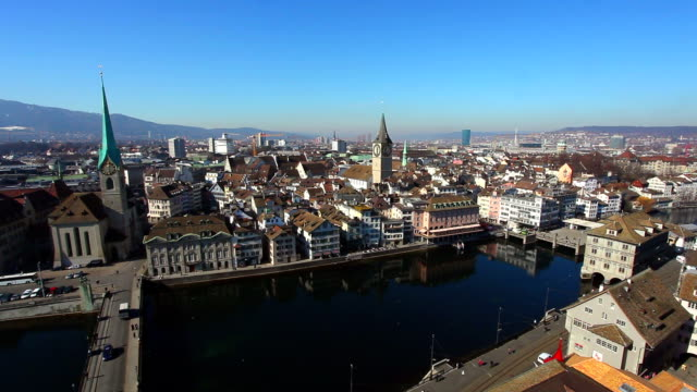 stockvideo's en b-roll-footage met zurich skyline - hersenstam
