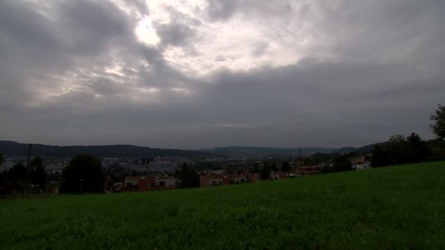 zurich ext various gvs of zurich skyline with mountain in distance - switzerland stock videos & royalty-free footage